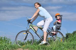 Rear bike seat for young child