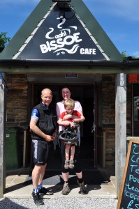 hiring bikes for the family - Bissoe Cafe