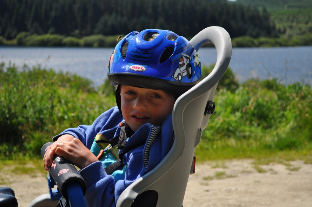 now it's time to start cycling with a small child in a bike seat
