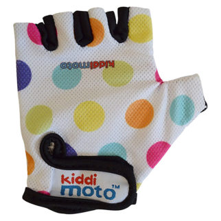Kiddimoto spotty kids fingerless cycling glove for small hands