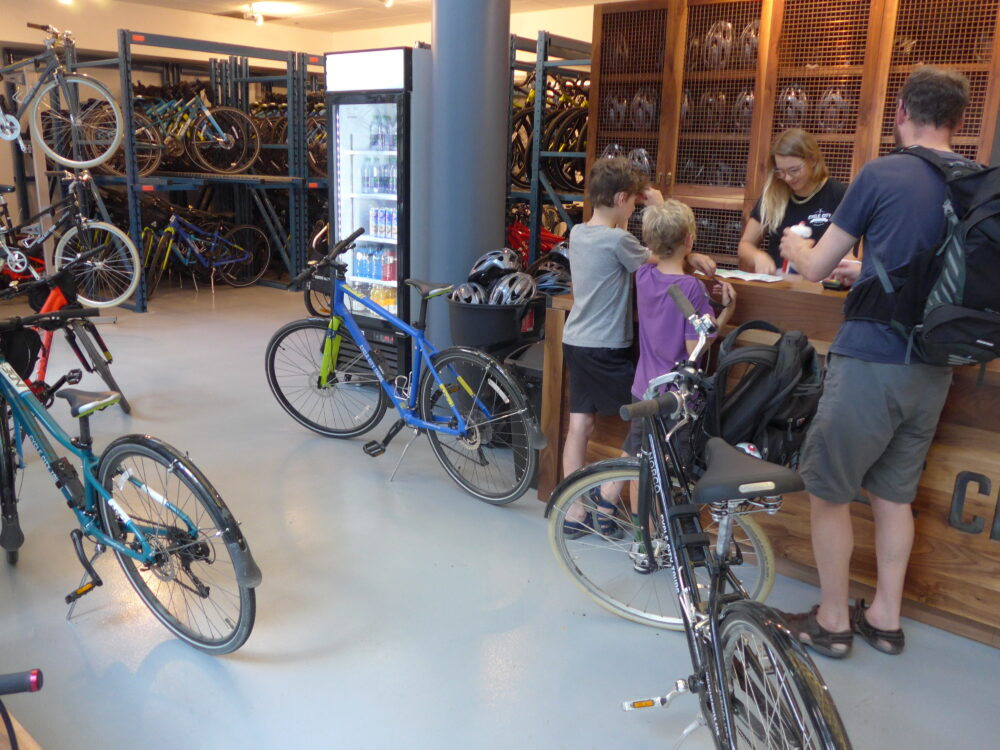Hiring bikes for all the family