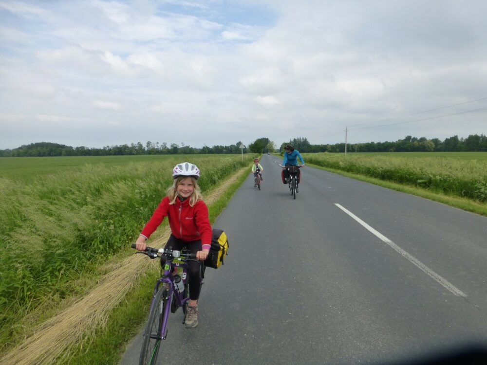 Family cycling in Bratislava, Vienna and Bupapest, Hungary