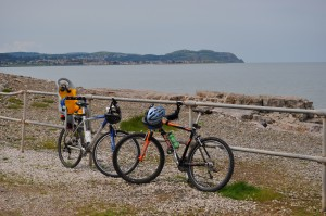 Family cycling in North Wales - Bikes with Leco Top Tube front seat