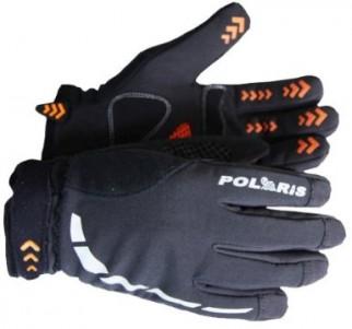 Polaris Mini Hoolie kids black winter cycling gloves