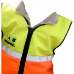 Respro hi-viz vest waistcoat for small children aged 4 and under to wear over their coat at night to be seen whilst cycling