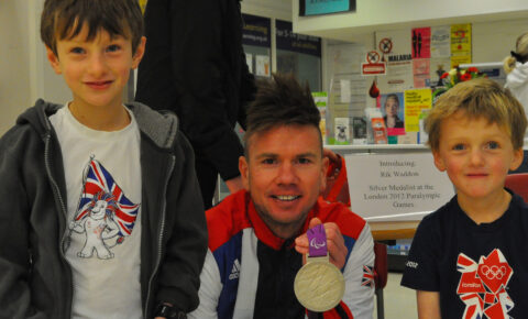 Not every day you get to meet a Paralympian!