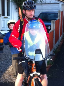 Review of the Polisport childs front bike seat windscreen and wind shield