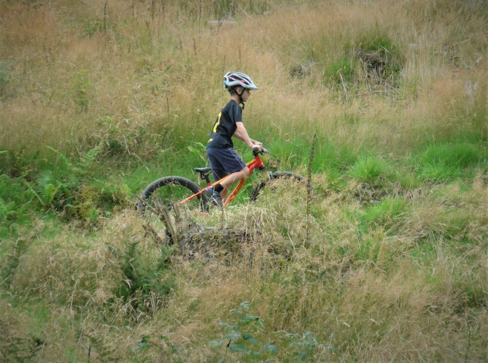 Youth mountain biking in North Wales