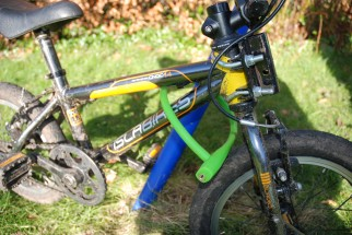 Knog Party Frank bike lock is a child friendly bike lock suitable for use by kids