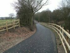 Family cycle ride on the Chester Greenway