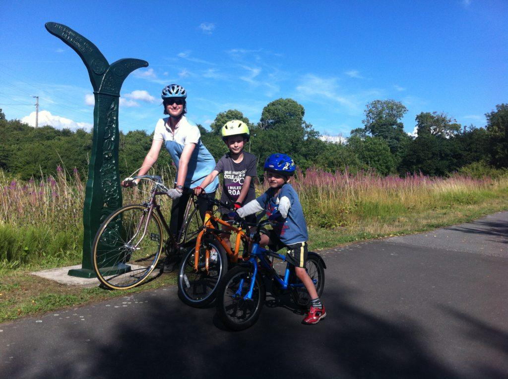 family cycle routes in Cheshire and Wirral - Chester to Connahs Quay is a great, traffic free route
