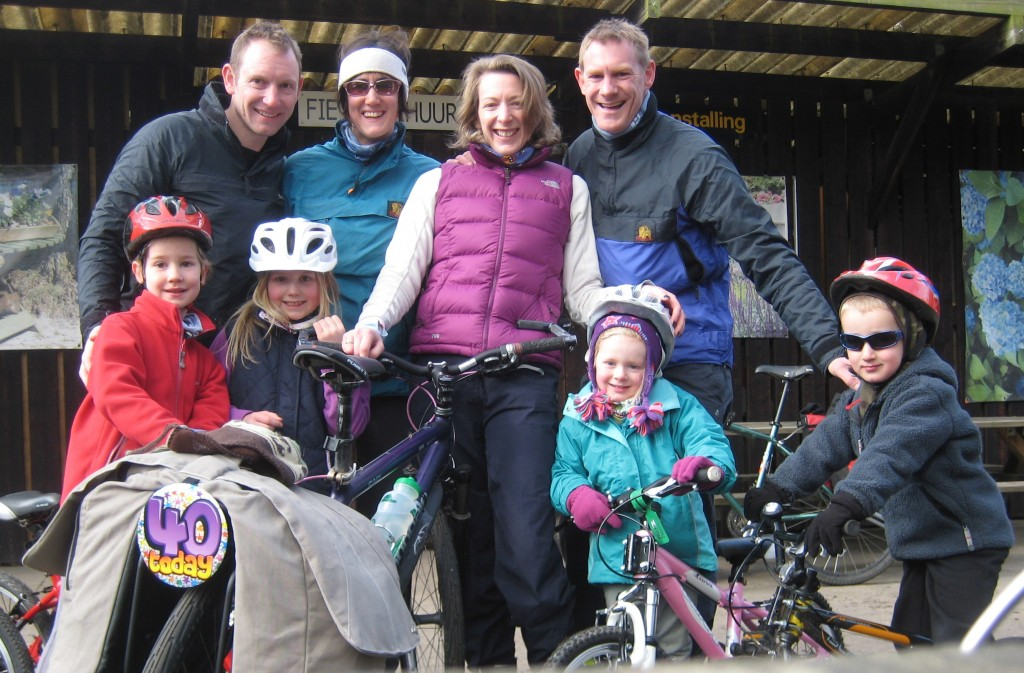 Family cycling holiday to Holland with young children