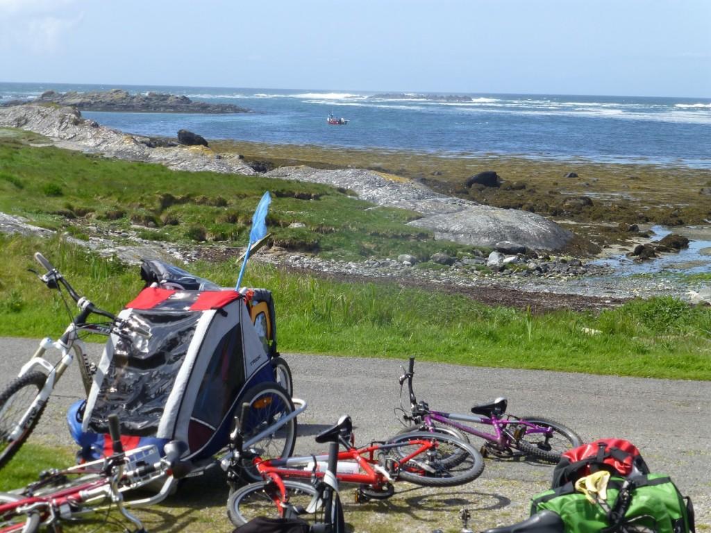 Family cycling holiday Scottish Island Hopping on Colonsay and Jura