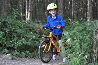My 7 year old riding the Frog 55 kids bike