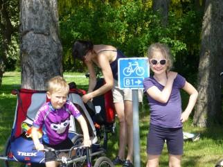 Mr Grumpy kids cycling jersey in Denmark