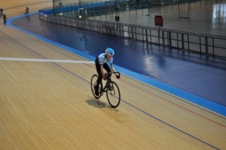 Kids riding at the Manchester velodrome