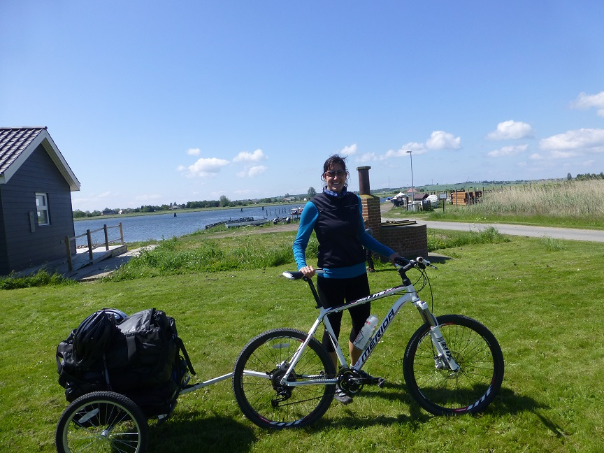Outeredge Trailer during Danish family cycling holiday to Denmark