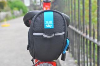 Team Sky Frog Bikes Saddle bag fitted to an Islabikes Beiinn