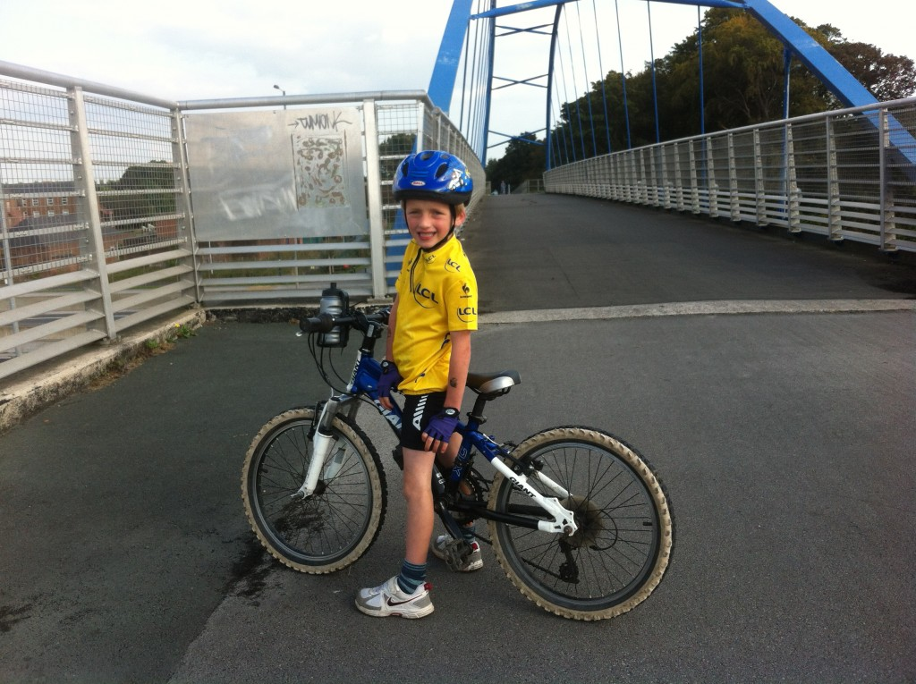 Kids size tour de france yellow jersey