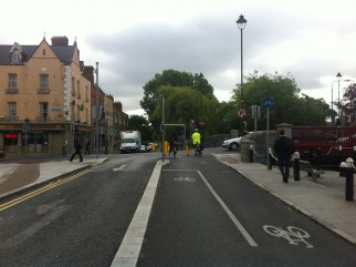 Cycling in Dublin City Centre