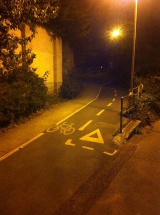Night Time Cycling in Dublin