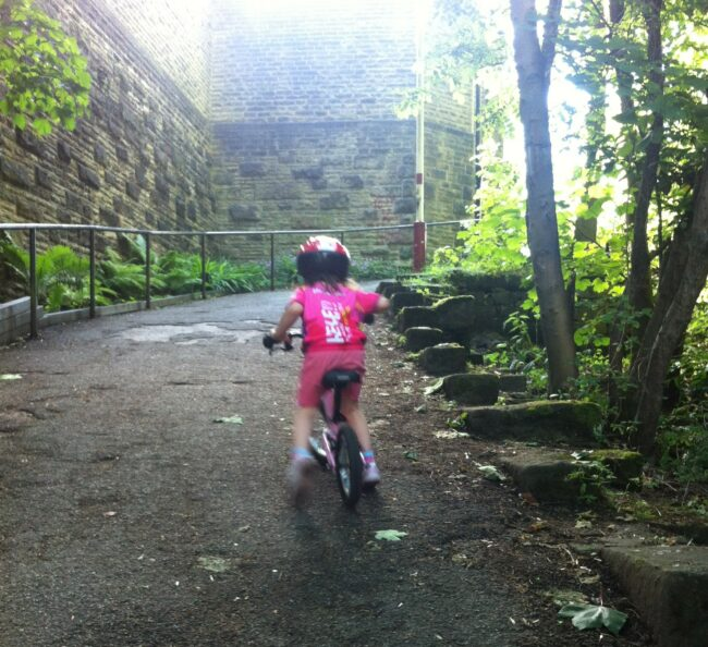Make sure your child can still ride as fast and as far when you go on your first family bike ride of the year