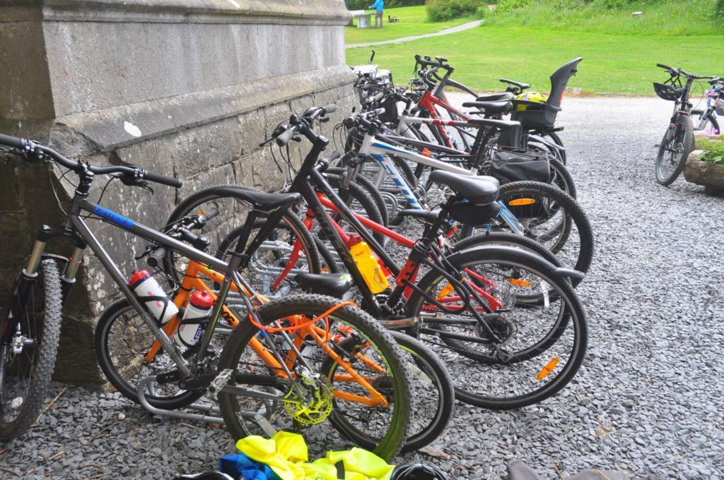 Bike racks at Wray Castle Lake District