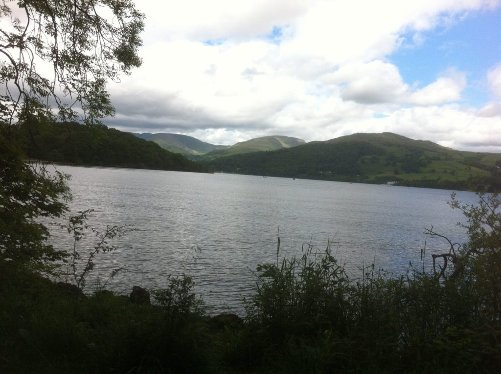Lake Windermere from the western shore cycle route
