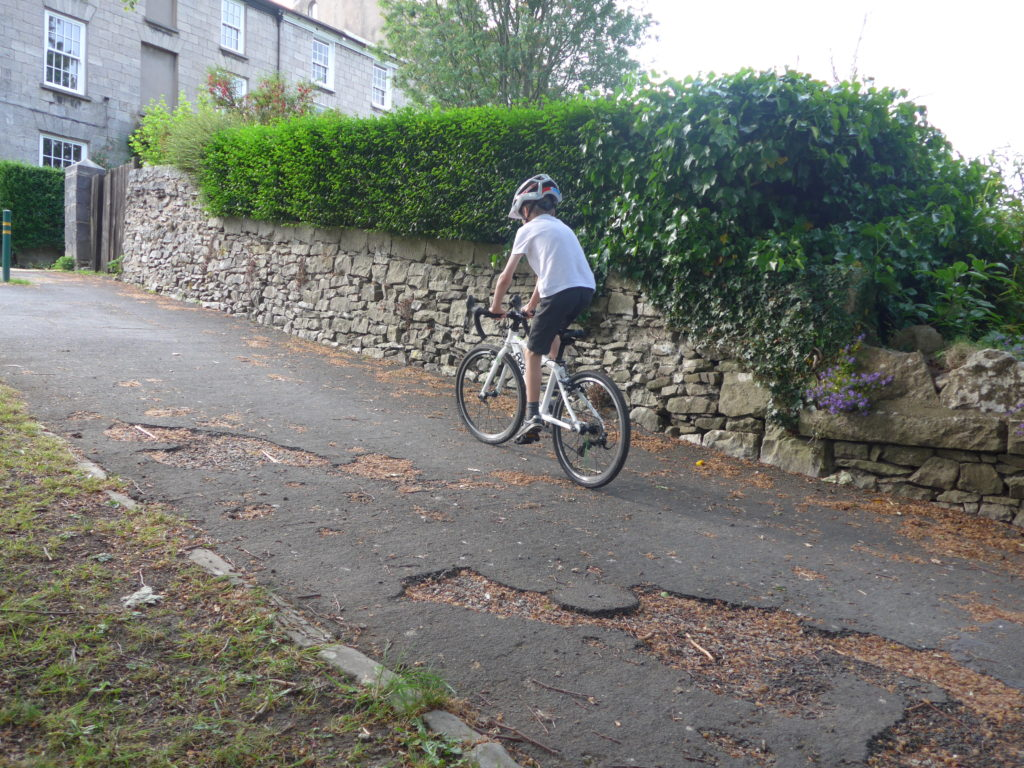 Hill climbs on the Frog Road 58 kids bikes