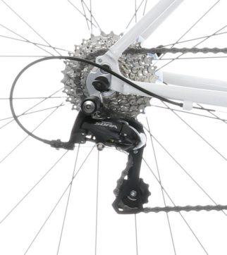 Wiggins 700c carbon fork bike - Sora rear mech