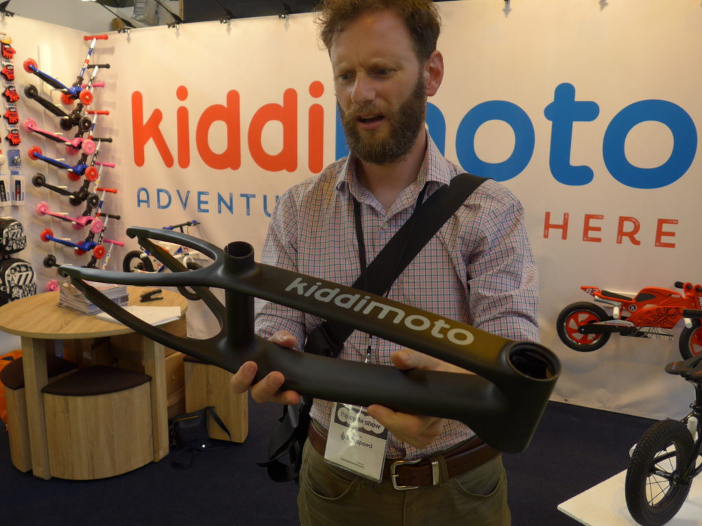 Kiddimoto Karbon balance bike at the 2016 Cycle Show
