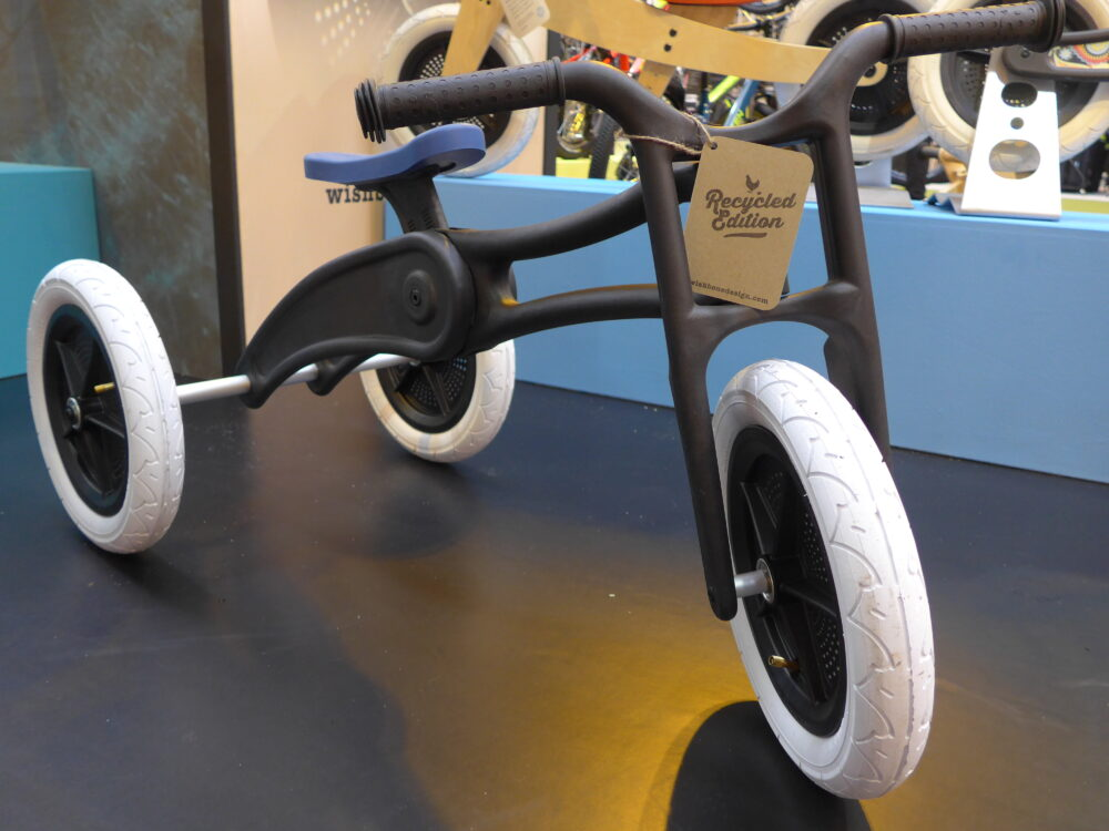Early Rider Recycled 3-in-1 balance bike and trike at 2016 Cycle Show, NEC Birmingham