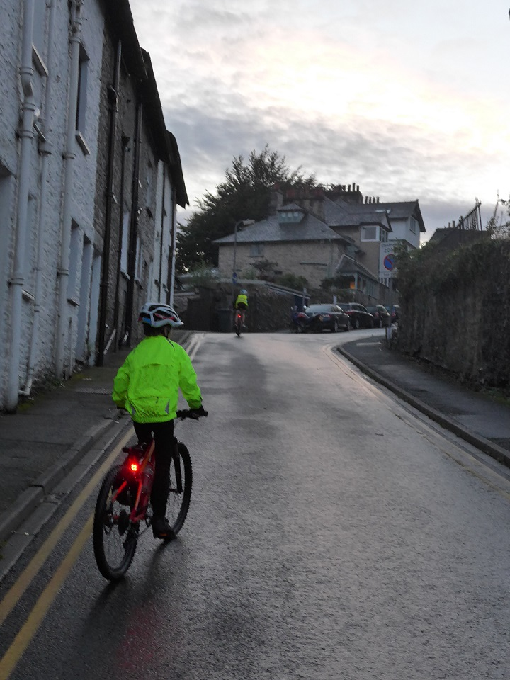 Cycling home in the dark