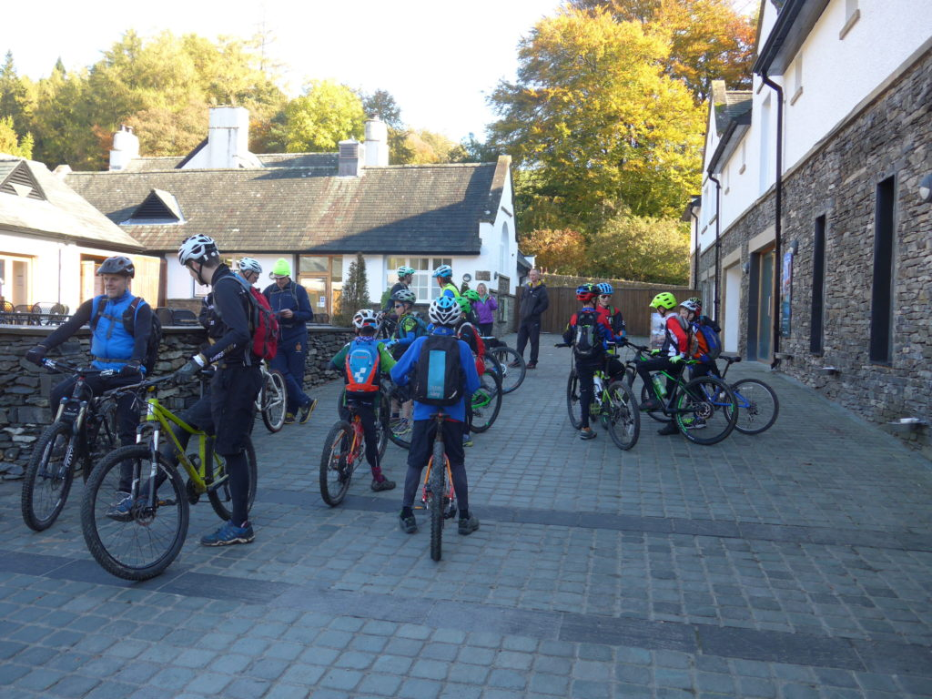 Biritish Cycling Mountain Biking kids skills session at Grizedale Forest