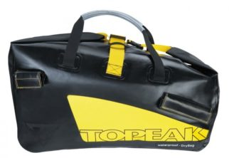 The dry bag that comes with the Topeak Journey trailer has excellent handles for carrying