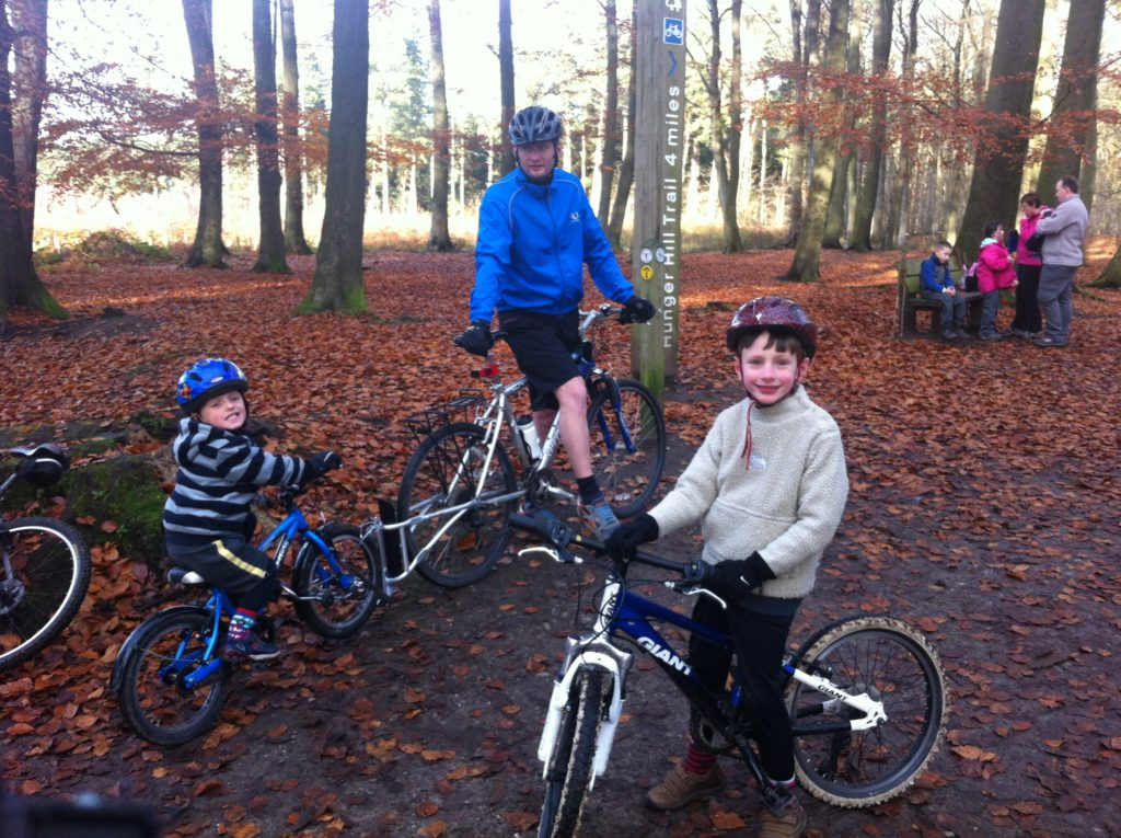 Layers are important when cycling with kids during winter