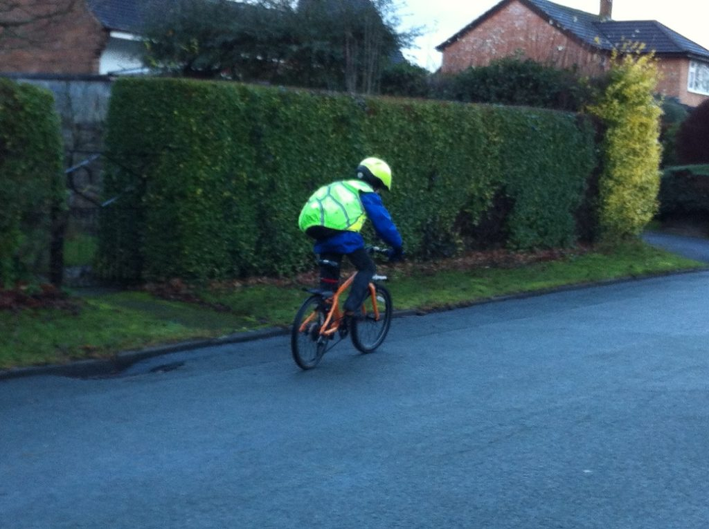 Winter cycling accessories for children