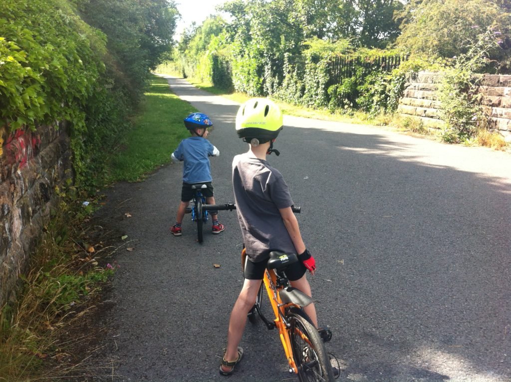 Disused railways such as the Chester Greenway can be good places for family cycling