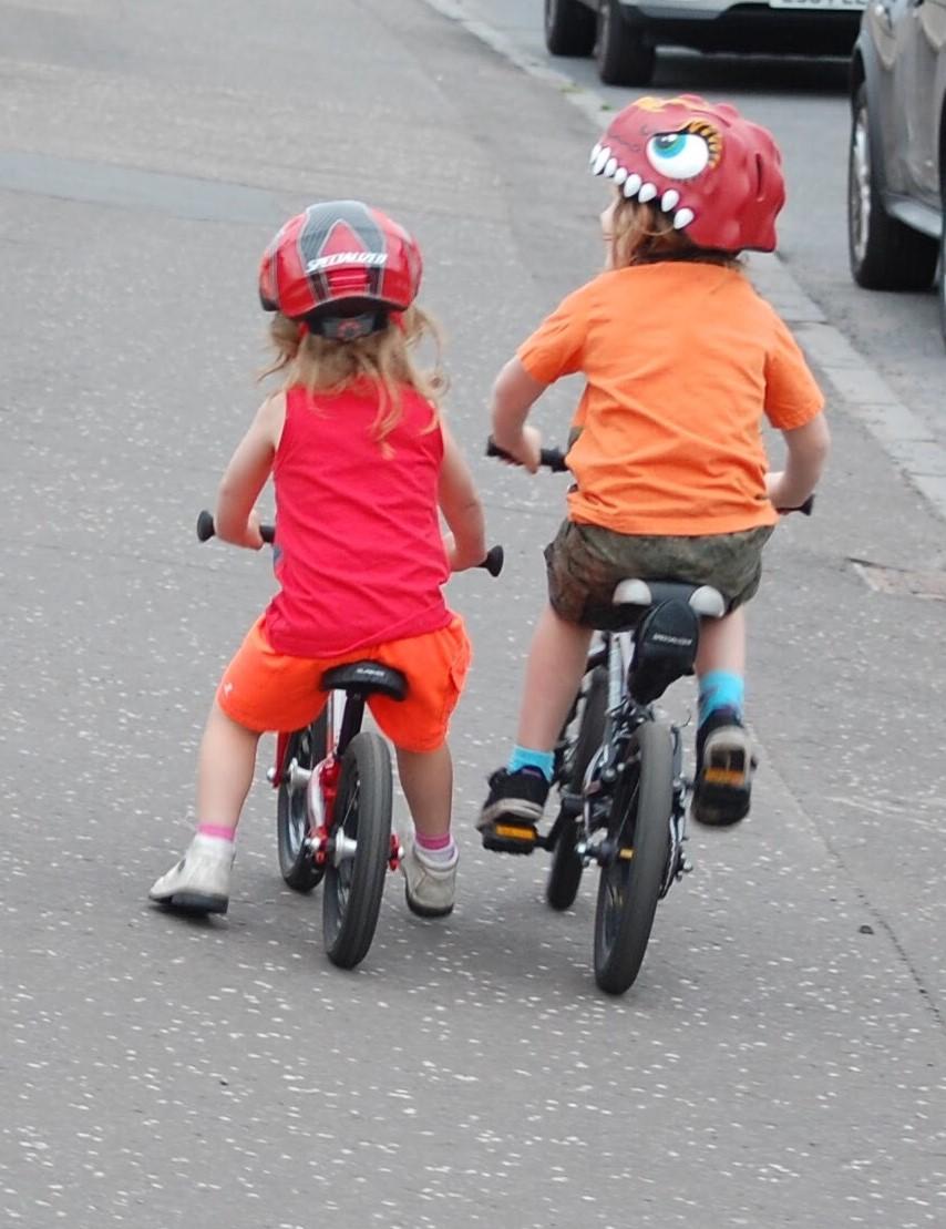 Islabike Rothan balance bike and Cnoc 14 pedal bike