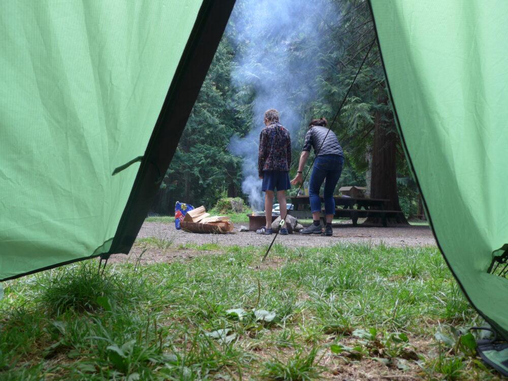 Camping and cycling