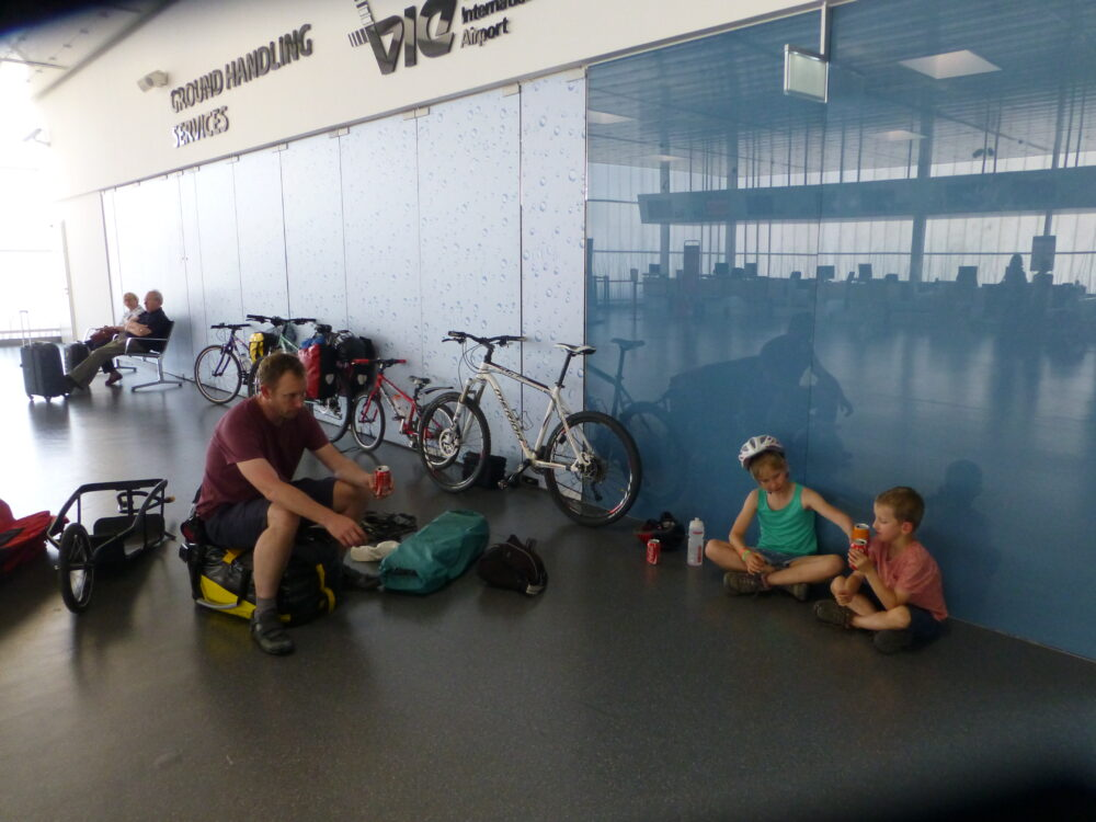 Taking kids and bikes on a plane
