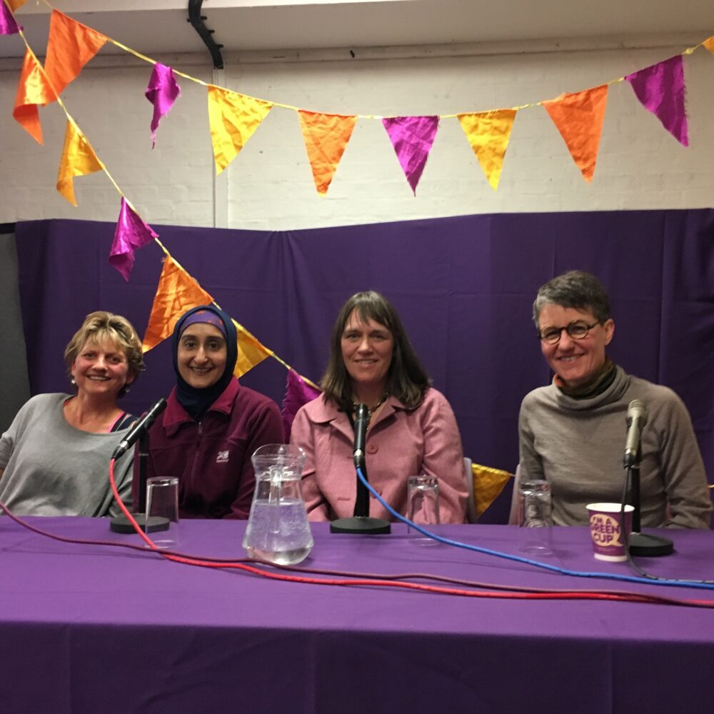 The panellists of the Family Cycling discussion at the Women and Bicycles Festival in Oxford, March 2017