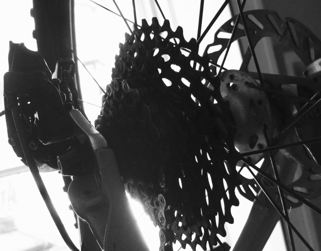 """Buying a kids 24"""" wheel mountain bike - rear cassette in monochrome"""