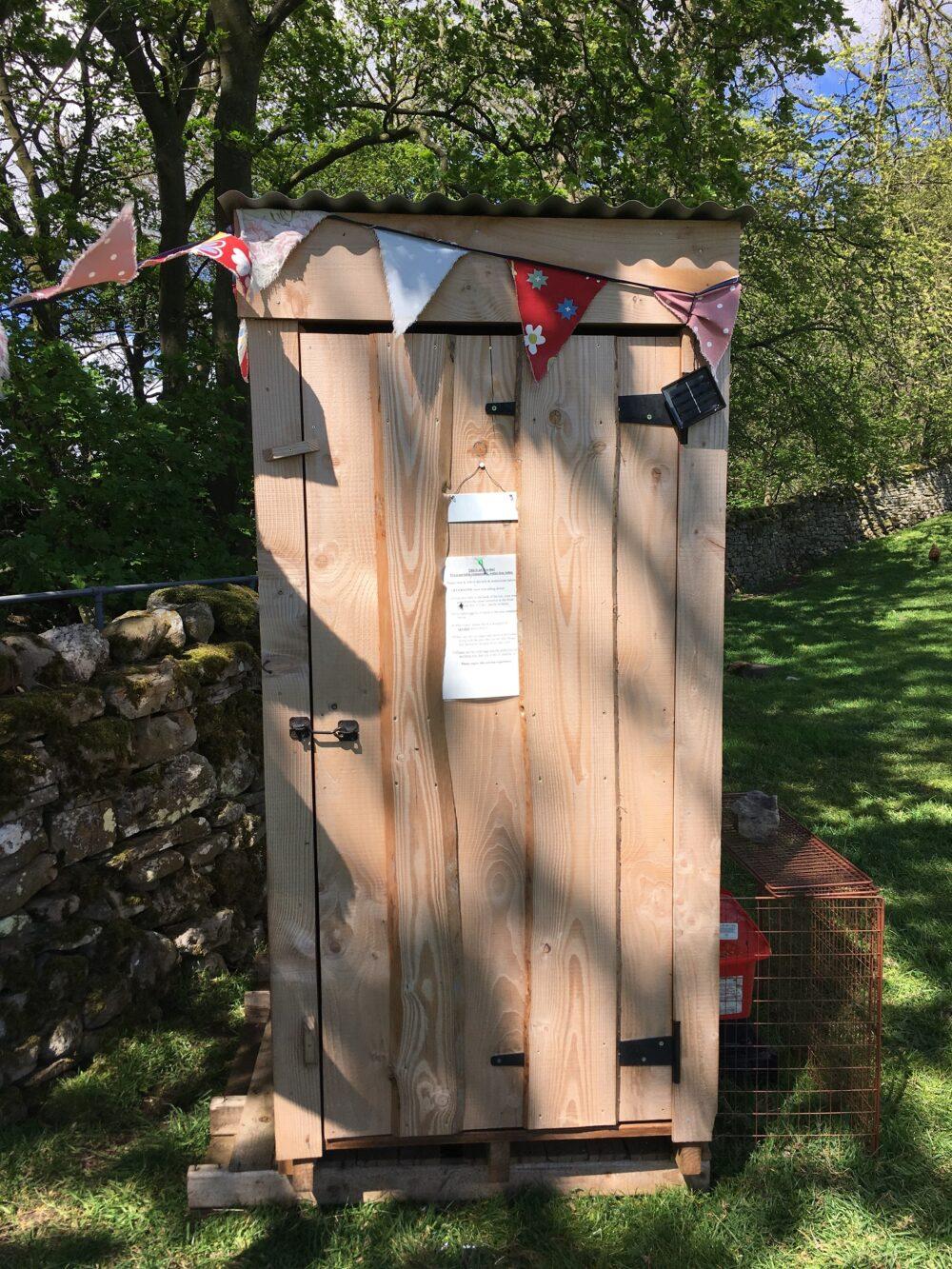 Eco Loo at Askrigg Campsite, Yorkshire Dales