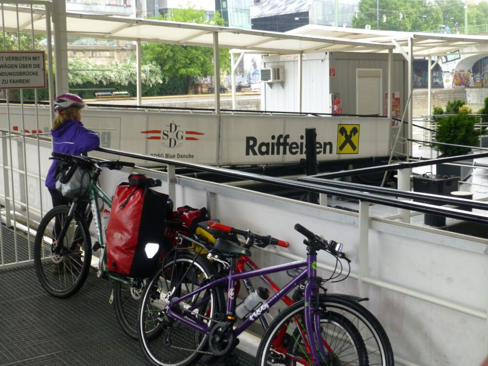 Family cycling trip along the River Danube from Vienna to Bratislava and on to Budapest