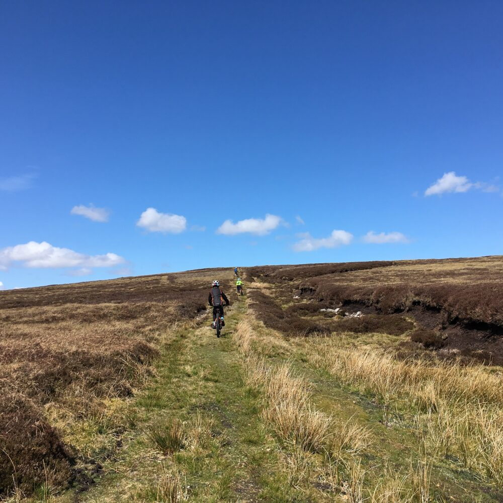 Off road mtbing with kids in Yorkshire Dales