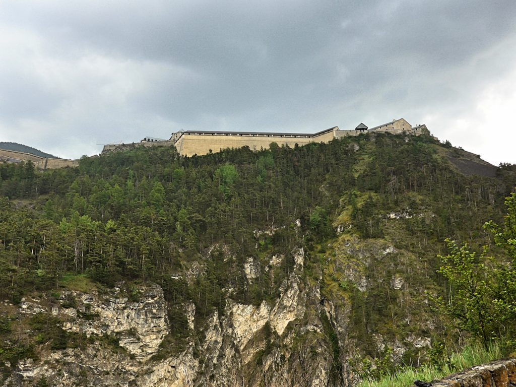 Cycling with kids in the french alps - Briançon fortifications