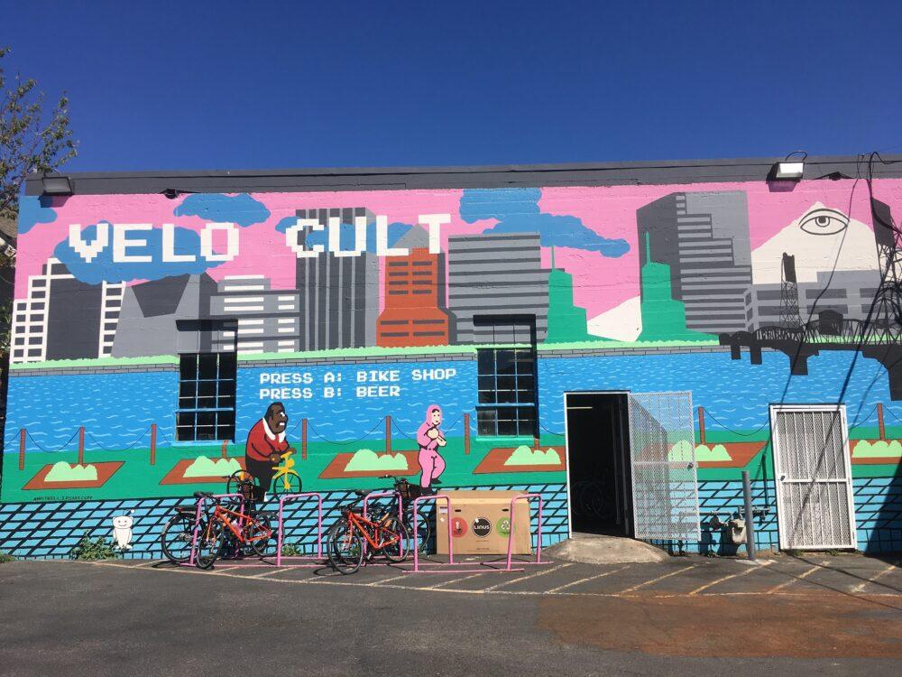 Velo Cult cafe and bike shop, Portland Oregon, USA