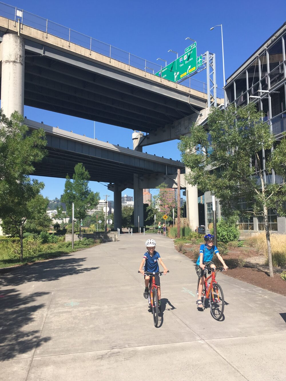 Safe cycling infrastructure in Portland