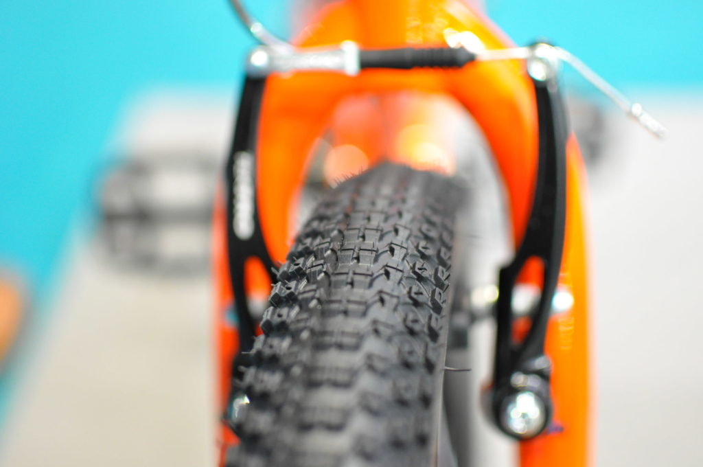 """New tyres have been fitted to the Vitus 20"""" kids bike"""